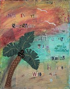 Ransom Mixed Media - Wild Air Palm by Robin Easley Pichelmayer