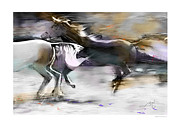 Wild Horses Digital Art Prints - Wild And Free Print by Bob Salo