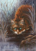 Kittens Paintings - Wild at Heart by Cynthia House