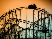 Roller Coaster Metal Prints - Wild at Night Metal Print by Colleen Kammerer
