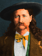 Moustache Digital Art Prints - Wild Bill Hickok 20130518 Print by Wingsdomain Art and Photography