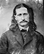 Sherriff Prints - Wild Bill Hickok - American Gunfighter Legend Print by Daniel Hagerman