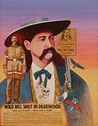 J W Kelly Framed Prints - Wild Bill Hickok  Framed Print by J W Kelly