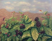 Berry Pastels - Wild Blackberries by Laurie Morgan