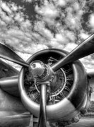 Airplanes Photos - Wild Blue Yonder 3 bw by Mel Steinhauer