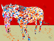 Wild Horses Mixed Media Posters - W.i.l.d. Poster by Brian Buckley
