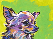Chihuahua Colorful Art Prints - Wild Chi Print by Lea