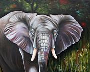 Wild Elefant Print by  Ilona Anita Tigges - Goetze