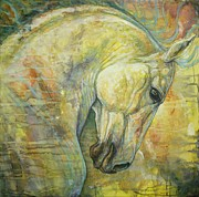 White Horse Paintings - Wild Feel by Silvana Gabudean
