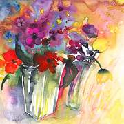 Still Life - Wild Flowers Bouquets 02 by Miki De Goodaboom