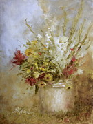 Gladiolas Paintings - Wild Flowers by Sharen AK Harris