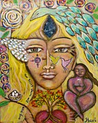 Contemporary Symbolism Prints - Wild Goddess Print by Havi Mandell