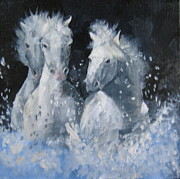 Susan Richardson Paintings - Wild Horses by Susan Richardson