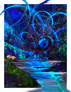 Dreamscape Digital Art Framed Prints - Wild Imagination Framed Print by Paul St George