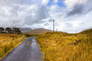 Rural Road Posters - Wild Irish roads of Connemara Poster by Mark E Tisdale