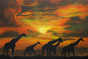 Sun Rays Painting Framed Prints - Wild Framed Print by Mark Henry