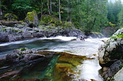 Pacific Northwest Rivers Framed Prints - Wild Rapids Framed Print by Jeff  Swan
