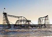 Jetstar Roller Coaster Photographs Posters - Wild Ride Poster by Michael Attanasio