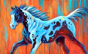 Colorful Horse Paintings - Wild Spirit by Theresa Paden