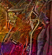 Lebron Art - Wild Strings Digital Guitar Art by Steven Langston by Steven Lebron Langston