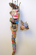 Fun Sculpture Metal Prints - Wild Thang Metal Print by Keri Joy Colestock