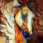 Original Horse Art Paintings - Wild West Buckskin by Marcia Baldwin