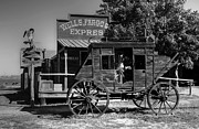 Pioneers Photos - Wild West Stagecoach by Mel Steinhauer