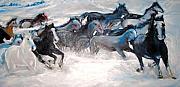 Wild Wild Horses Print by Helena Bebirian