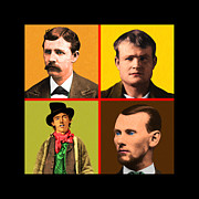 The Kid Posters - Wild Wild West 20130518 square Poster by Wingsdomain Art and Photography