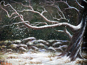 Snow Drifts Painting Posters - Wild Winter Poster by Deborah Smith