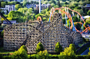 Wildcat Prints - Wildcat Roller Coaster - Hershey Park Print by Bill Cannon