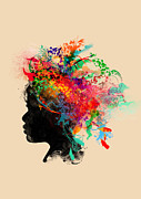Hair Digital Art Prints - Wildchild Print by Budi Satria Kwan
