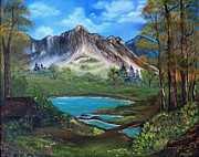 Cabin Paintings - Wilderness Retreat by Stephen Helton