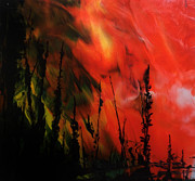 Wildfire Paintings - Wildfire 6 by Chad Rice