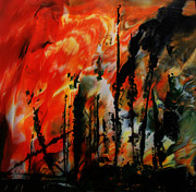 Reno Nevada Painting Prints - Wildfire 8 Print by Chad Rice