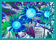 Power Plants Digital Art Posters - Wildflower Poster by Tom Druin