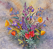 Blooms  Butterflies Painting Framed Prints - Wildflowers of Alaska II Framed Print by Teresa Ascone