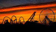 Amusements Metal Prints - Wildwood at Dawn Metal Print by Mark Miller