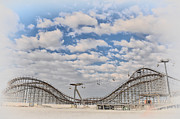Wildwood Framed Prints - Wildwood Boardwalk Rollercoaster Framed Print by Bill Cannon
