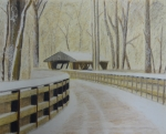 Ohio Pastels Prints - Wildwood Bridge Print by Samuel McMullen