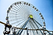 Wildwood Framed Prints - Wildwood Ferris Wheel Framed Print by Bill Cannon