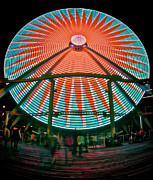 Amusements Framed Prints - Wildwoods Giant Wheel Framed Print by Mark Miller