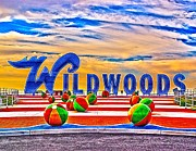 Wildwood Photos - WILDWOODS Sign by Nick Zelinsky
