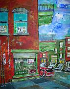 Montreal Diner Paintings - Wilenskys Corner by Michael Litvack