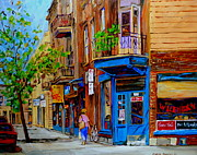 Store Fronts Painting Prints - Wilenskys Diner And Snack Bar Print by Carole Spandau