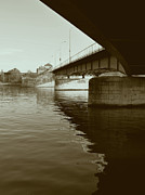 Limburg Photo Prints - Wilhelmina Bridge in Maastricht Print by Nop Briex