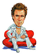 Caricature Paintings - Will Ferrell by Art