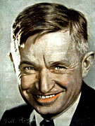 Head Shot Digital Art Prints - Will Rogers Print by Unknown