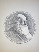 Journalist Drawings Framed Prints - William Cullen Bryant Framed Print by Henry Goode