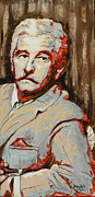 Hall Painting Prints - William Faulkner Print by Jenny Hall